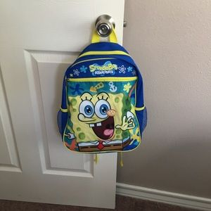 SPONGEBOB BACKPACK With 2 holes on the side bag